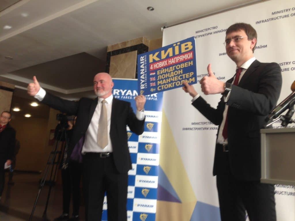 Ryanair enters Ukraine with big ticket sale