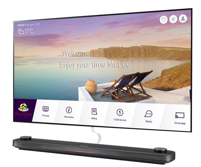 Αποτέλεσμα εικόνας για LG unveils world's thinnest hotel TV