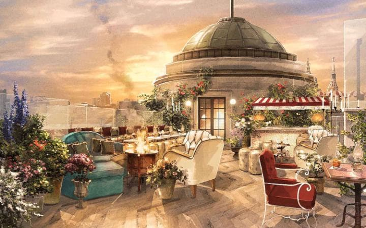 The Canopy Bar & Restaurant and two Dome bars