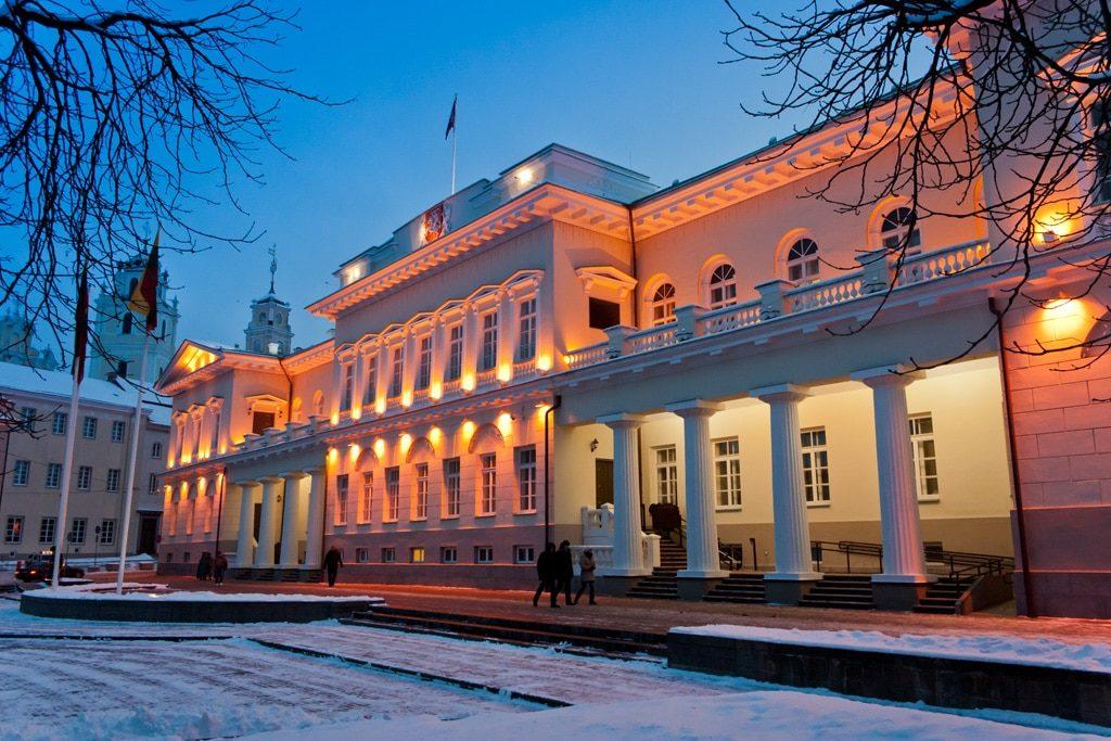 Presidential palace Vilnius Winter
