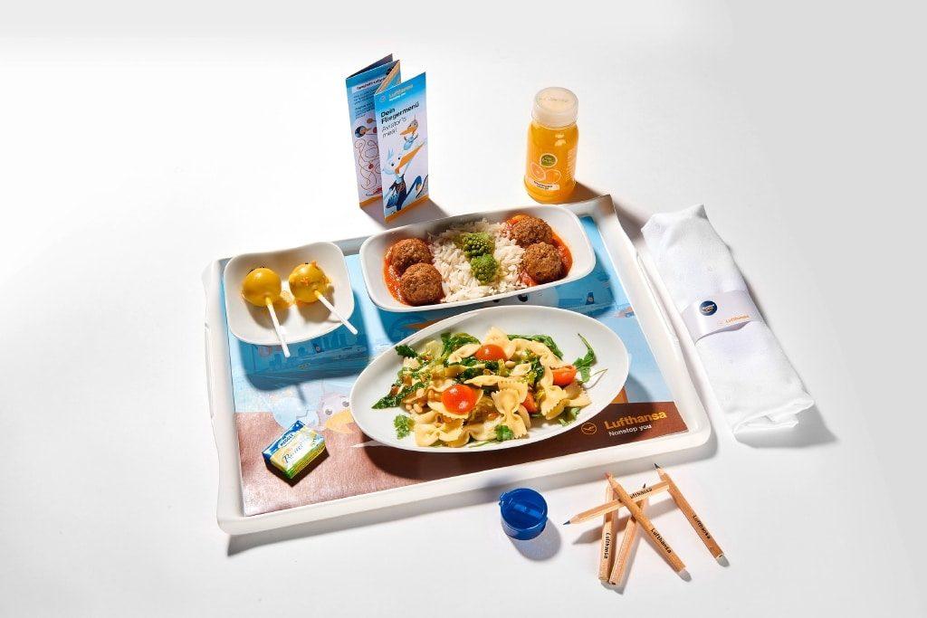 Lufthansa Kindermenüs, in Zusammenarbeit mit Cornelia Poletto