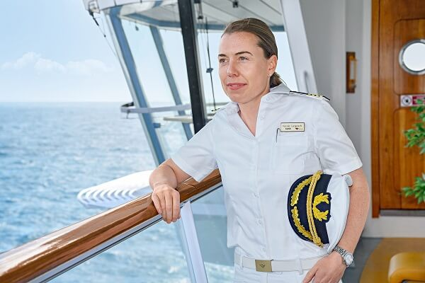 Germanys First Female Cruise Ship Captain Is Taking Command Of - Cruise ship captains