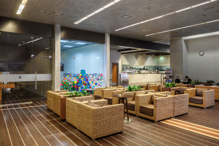 business lounge at Moscow Domodedovo Airport