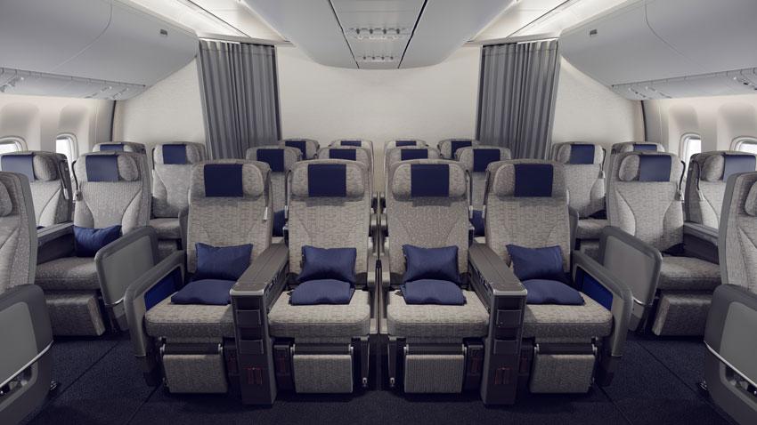 New Premium Economy and Economy Class Seat
