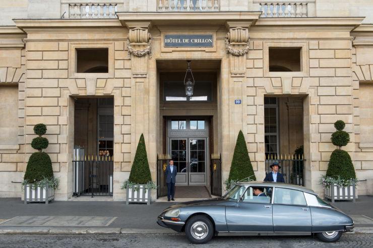 1973 Citroen DS Rosewood famous hotels