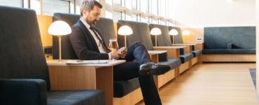 Lounge in Geneva Airport