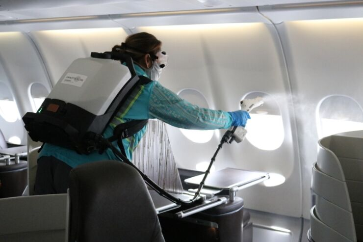 airlines cleaning