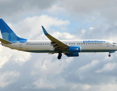Pobeda Russian low-cost airline