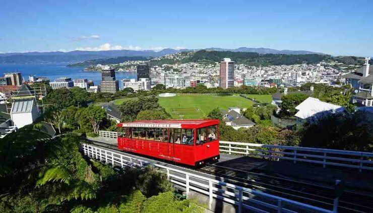 Cable Car North Island Wellington City New Zealand