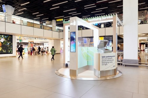 Disinfection Amsterdam Airport Schiphol