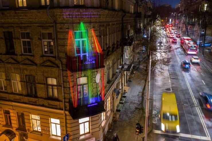 Vilnius Christmas Balconies