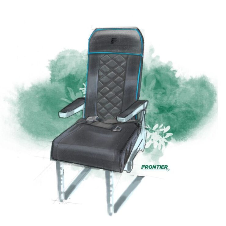 frontier airlines seat